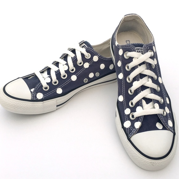 2fa3b0872e66 Converse Shoes - Converse NAVY Polka Dot Chuck Taylor All-Stars